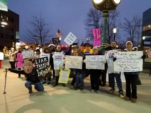 Indivisible Metro East Reject the Cover Up Rally