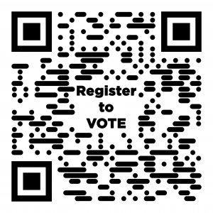 scan to register to vote