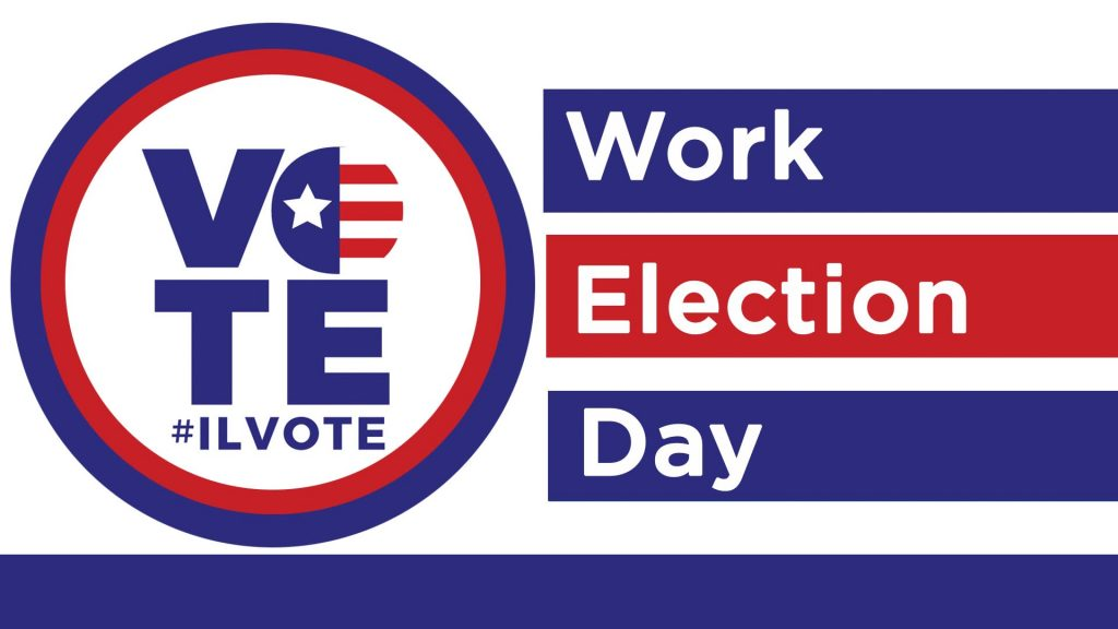 ILVOTE work election day - poll worker