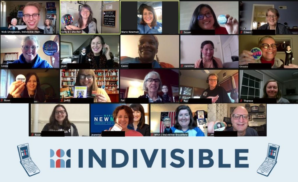 Indivisible Illinois Phone Bank Marie Newman